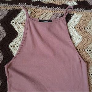 Pink ribbed maxi dress NWOT